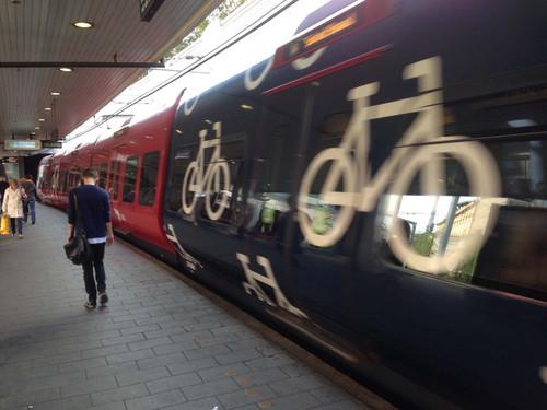 デンマーク、コペンハーゲンの自転車専用車両