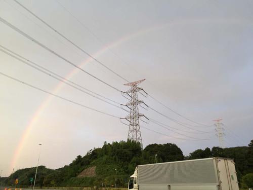 虹ですね。